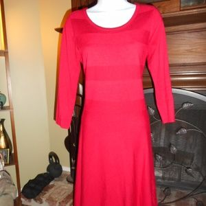 Stunning Red Sweater Dress, Small
